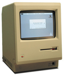 Photo of the original Apple Macintosh