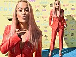 LOS ANGELES, CA - AUGUST 16:  Actress/singer Rita Ora attends the Teen Choice Awards 2015 at the USC Galen Center on August 16, 2015 in Los Angeles, California.  (Photo by Steve Granitz/WireImage)