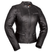 First Fashionista Ladies Black Leather Jacket