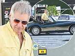 UK CLIENTS MUST CREDIT: AKM-GSI ONLY EXCLUSIVE: Santa Monica, CA - August 15, 2015:  71-year-old actor Harrison Ford was behind the wheel of his vintage 1955 Jaguar XK 140 this afternoon while pumping gas near his Brentwood home. The car, which can reach speeds of up to 125 miles per hour, was manufactured by Jaguar between 1954 and 1957, with current valuations pricing it an approximately $150k.  Pictured: Harrison Ford Ref: SPL1104046  150815   EXCLUSIVE Picture by: AKM-GSI / Splash News