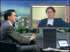 Ed Miliband and Lord Lawson on the Politics Show