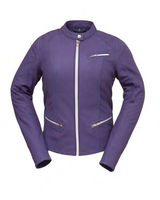 "Ladies Purple Leather Scooter Style Biker Jacket ""First Fashionista"""