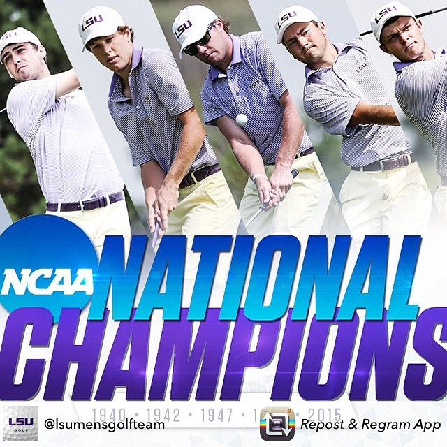 Congrats to @lsumensgolfteam - the 2015 National Champions! #GeauxTigers