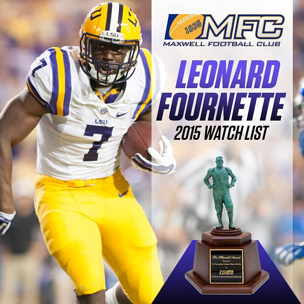 @_fournette7 has been named to the Maxwell Award watch list. The award is given to college football's player of the year each season.