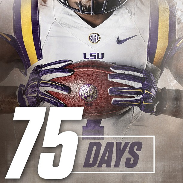 75 days until it's Geaux Time in Death Valley! Kickoff is getting closer.