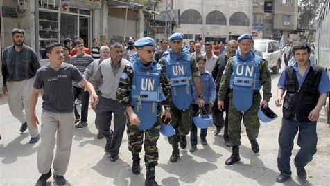 Une première équipe restreinte d'observateurs est sur place depuis dimanche, ici près de Damas.