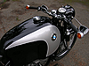 Detail showing panels of Fuel tank on our 1965 R60 BMW Motorcycle.