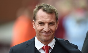 Brendan Rodgers had come under pressure following a poor season for Liverpool