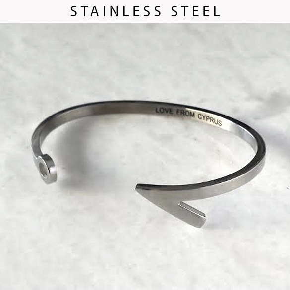 Image of Stainless steel hook cuff - various colours