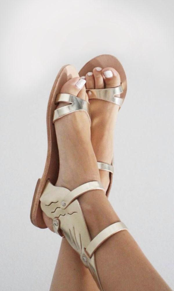 Image of Nike winged gladiator sandal, gold