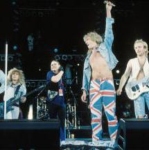 Def Leppard perform on stage at Freddie Mercury Tribute Concert, Wembley, London, 20th April 1992. - Michael Putland/Hulton Archive/Getty Images