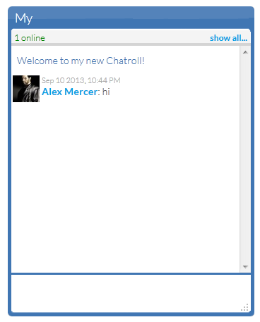 Add chatroll live chat widget to blogger