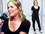 """NEW YORK, NY - AUGUST 21:  Kim Dickens attends the AOL's BUILD Speaker Series Presents: """"Fear Of The Walking Dead"""" at AOL Studios in New York on August 21, 2015 in New York City.  (Photo by Grant Lamos IV/FilmMagic)"""
