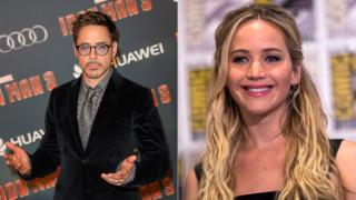 Robert Downey Jr. and Jennifer Lawrence, who have both topped the Forbes list of highest paid actors and actresses of 2015 respectively