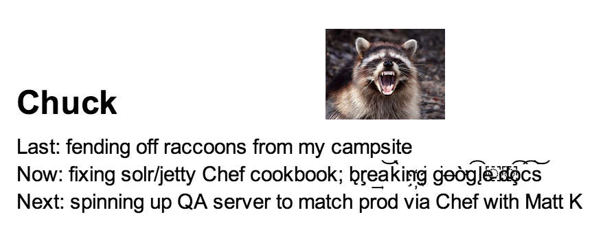 A screenshot of a Google Docs document with humorous images and silly fonts