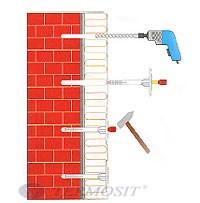 Порядок установки фасадного дюбеля