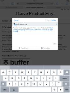 favorite productivity apps - buffer