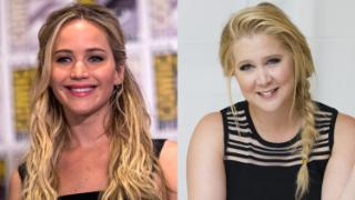 Jennifer Lawrence and Amy Schumer, who are writing a film together