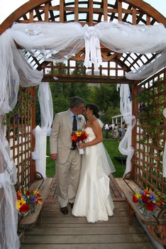 secret garden wedding arch ouray colorado