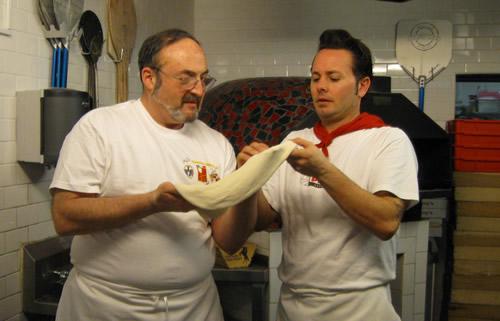 making pizza with Tony Gemignani