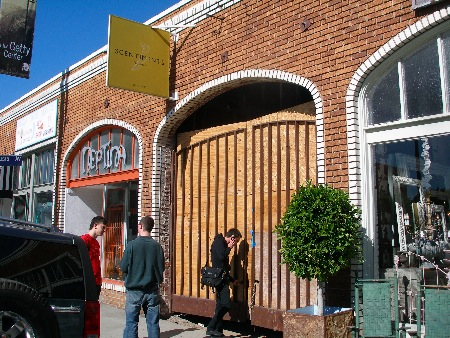 The gate at Intelligentsia Venice Beach, under construction - photo courtesy of Food GPS