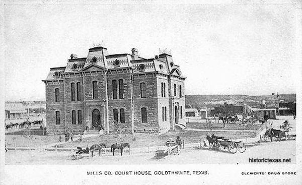 Mills County Courthouse, Goldthwaite, Texas 1910s