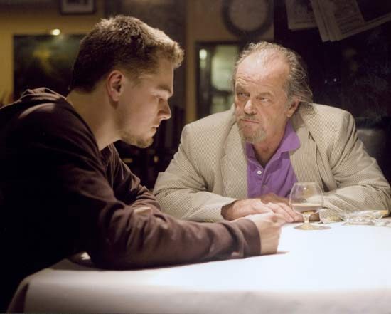 "Scorsese, Martin: DiCaprio and Nicholson in ""The Departed"" [Credit: © 2006 Miramax Films; all rights reserved]"