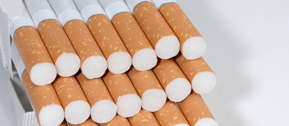 Stack of cigarettes
