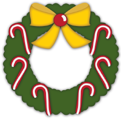Christmas Wreath Candy Canes cut file