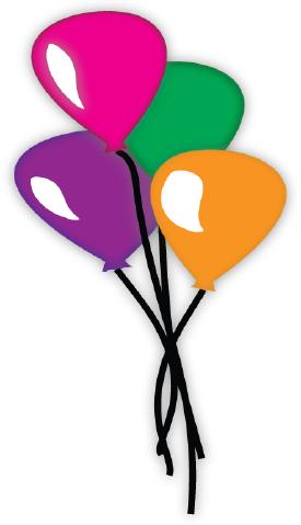 Birthday Balloons cut file