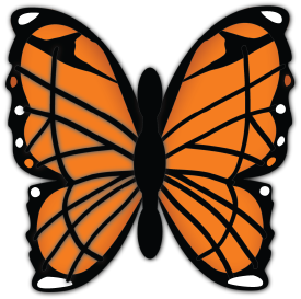 Monarch Butterfly cut file