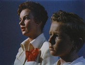 Helena Carter and Jimmy Hunt in Invaders from Mars