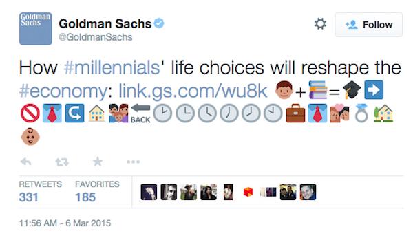 Goldman Sachs Emoji Tweet