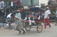 "Adam Kis - Pousse-pousse ""school bus"" ride, Ambositra, Madagascar"