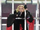 Madonna fan demonstrates what he can do with a banana at Rebel Heart show
