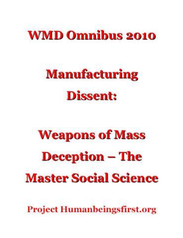 WMD Master Social Science 2010 Omnibus