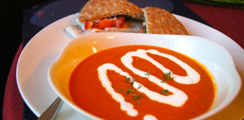 Roasted Red Pepper Soup With Herbs and Capers (the Secret Ingredient)