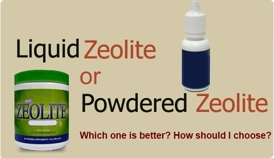 liquid zeolite vs. zeolite powder
