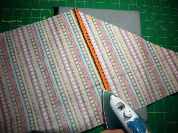 stitch, trim, press seam open