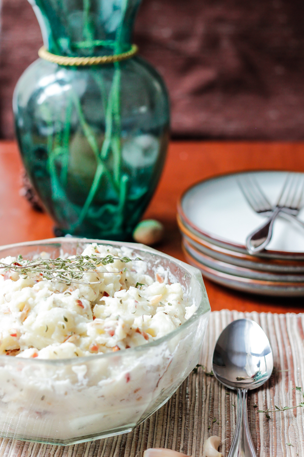 Roasted Garlic Bacon Mashed Potatoes