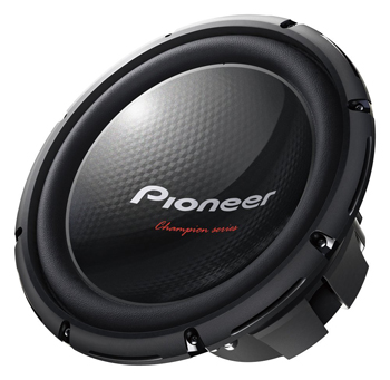 Pioneer TSW310D4 12-Inch Champion Series Subwoofer with Dual 4 Ohm Voice Coil 1,400 Watts Max Power