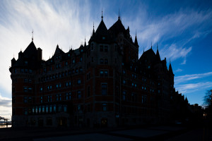 Quebec Chateau Silhouette