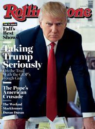 Donald Trump on the cover of Rolling Stone