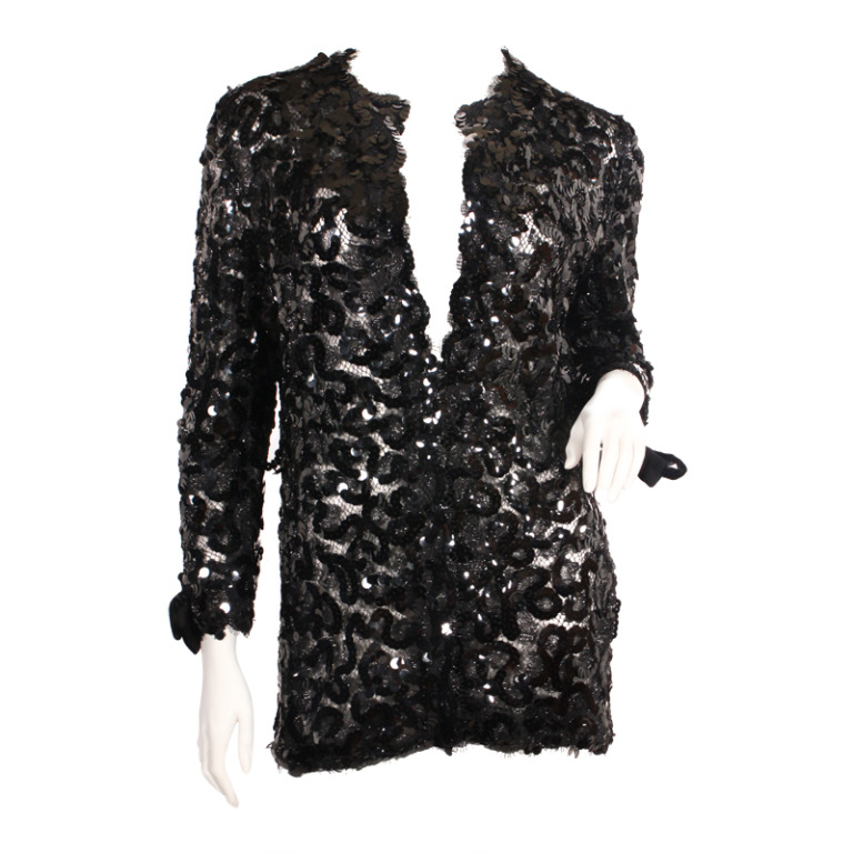 chanel sequin jacket 1stdibs