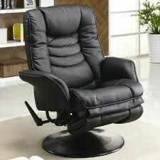 Modern Style Leatherette Swivel Recliner