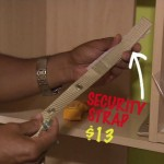 A quick and easy solution for securing your bookshelf