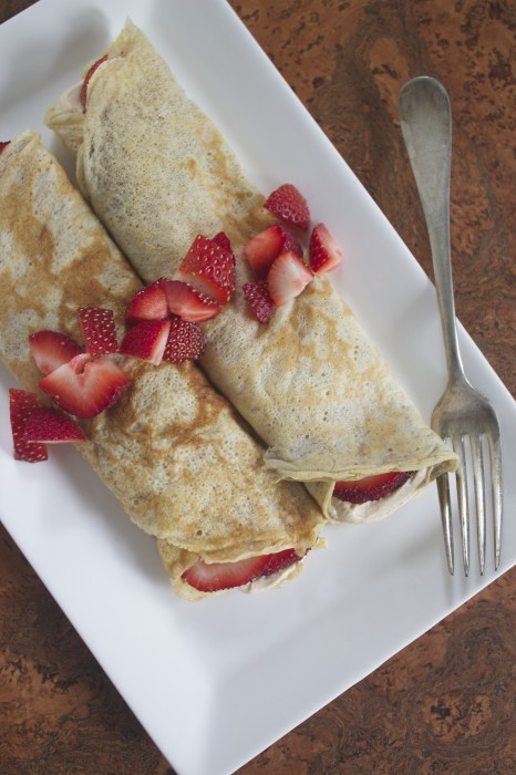 Whole Wheat Banana Crepes from Healthy Food For Living