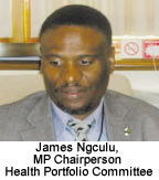 James Ngculu - MP Chairperson Health Portfolio Committee