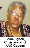 Joice Kgoali, Chairperson of ANC Caucus