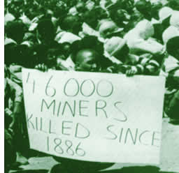 Miners protest march